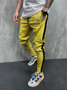 PANTALONI SLIM 2YDM ZIPPER YELLOW COD : BGAS585(2004)