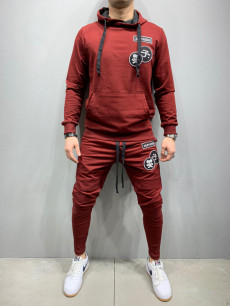 TRENING SLIM FIT SKULL BORDEAUX COD : TRAS44
