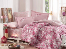 Lenjerie Pat 2 Persoane Romina Pink COD: 1334