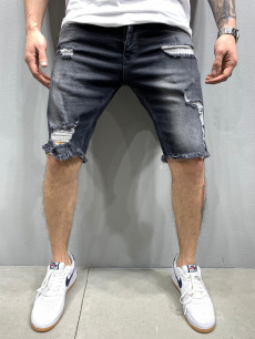 PANTALONI SCURTI DESTROYED DARKGREY COD : PSAS35