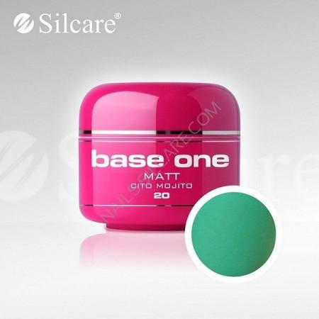 Gel uv Color Base One Silcare Matt Cito Mojito 20