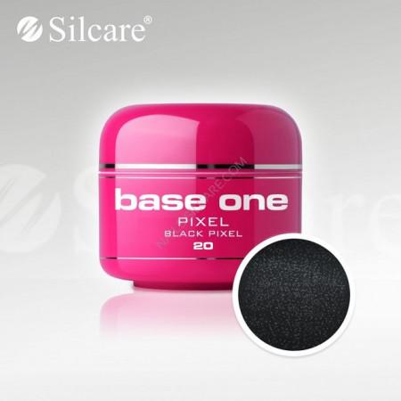 Gel uv Color Base One Silcare Pixel Black Pixel 20