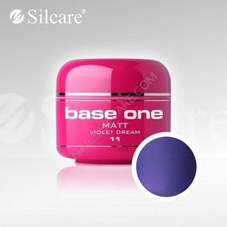 Gel uv Color Base One Silcare Matt Violet Dream 11