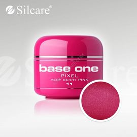 Gel uv Color Base One Silcare Pixel Very Berry Pink 11