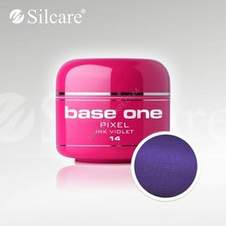 Gel uv Color Base One Silcare Pixel Ink violet 14