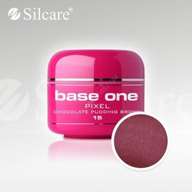 Gel uv Color Base One Silcare Pixel Chocolate Pudding Brown 15