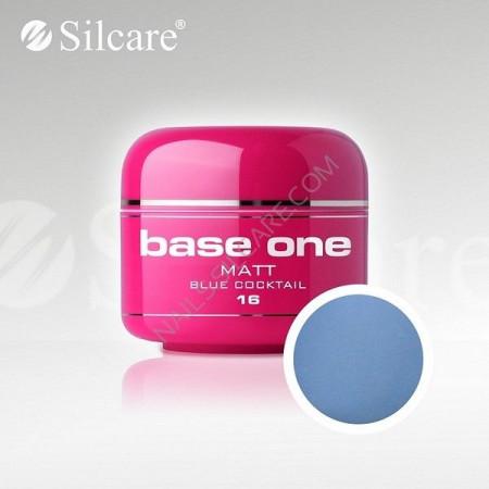 Gel uv Color Base One Silcare Matt Blue Cocktail 16