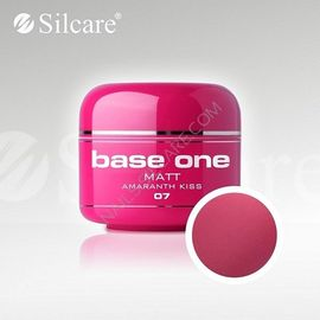 Gel uv Color Base One Silcare Matt Amaranth Kiss 07