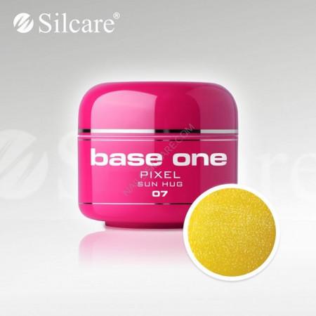 Gel uv Color Base One Silcare Pixel Sun Huq 07