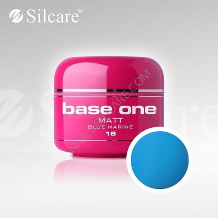 Gel uv Color Base One Silcare Matt Blue Marine 18