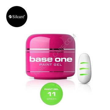 Gel UV Color Base One Silcare Paint Green 11