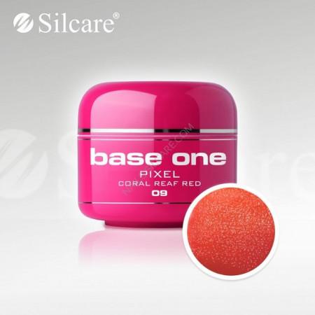 Gel uv Color Base One Silcare Pixel Coral Reaf Red 09