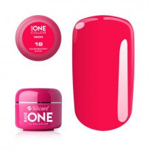 Gel UV Color Base One Silcare Neon Raspberry Pink 18