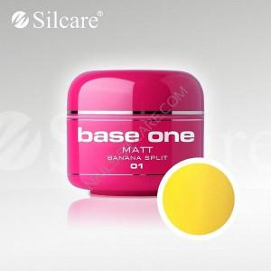 Gel uv Color Base One Silcare Matt Banana Split 01