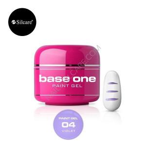 Gel UV Color Base One Silcare Paint Violet 04