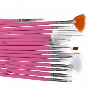 Pensule gel set Miley Pink NBS15P
