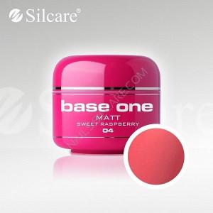 Gel uv Color Base One Silcare Matt Sweet Raspberry 04