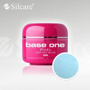 Gel uv Color Base One Silcare Pixel Pop Art Blue 04