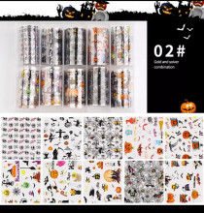 Set 10 folii transfer model Halloween 02