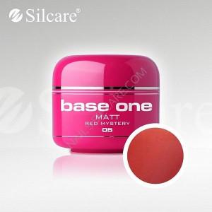 Gel uv Color Base One Silcare Matt Red Mystery 05