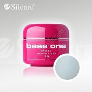 Gel uv Color Base One Silcare Matt Summer Sky 15