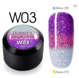 Gel color CANNI Gliter Termo 5ml W03