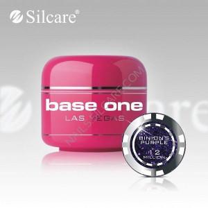 Gel uv Color Base One Silcare Las Vegas Binion'sPurple 12