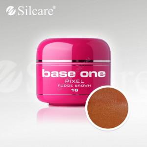 Gel uv Color Base One Silcare Pixel Fudge Brown 16