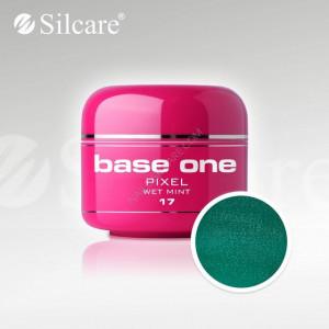 Gel uv Color Base One Silcare Pixel Wet Mint 17
