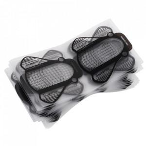Set 100 Sabloane pentru constructie unghii Plastifiate PVC