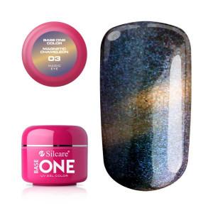 Gel UV Color Base One Silcare Magnetic Chameleon 03