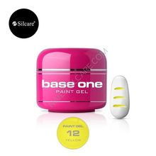 Gel UV Color Base One Silcare Paint Yellow 12