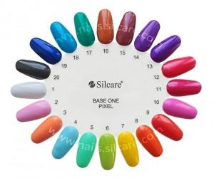 Gel uv Color Base One Silcare Pixel Bahama Holidays Blue 18