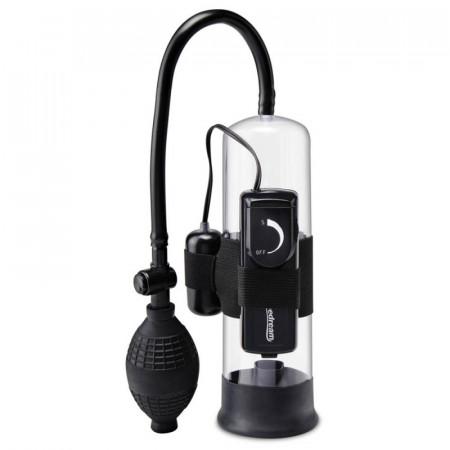 Pompa Penis pentru Incepatori cu Vibratii Pipedream