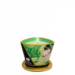 Candela de masaj si ambient Ceai Verde Shunga 170 ml