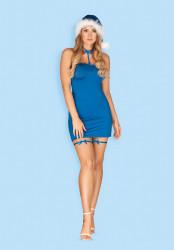Costum sexy de Craciunita Kissmas Obsessive Albastru