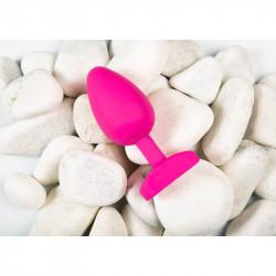 Dop anal cu vibratii Gplug Bioskin Sweet Raspberry