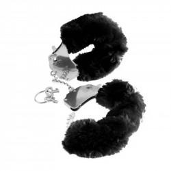 Catuse cu Blana Neagra Furry Cuffs