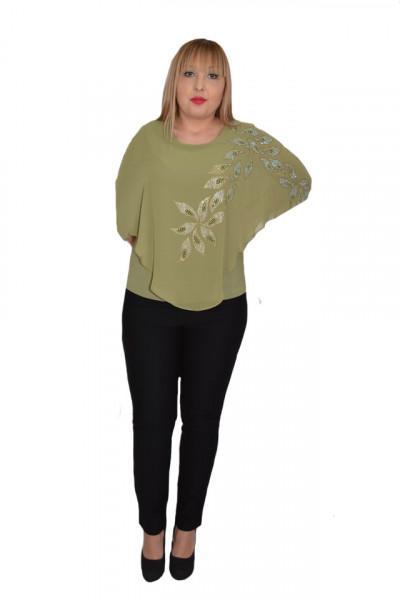 Poze Bluza eleganta cu aplicatii deosebite Dakota,nuanta de kaki