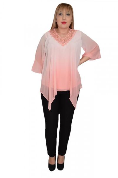 Poze Bluza eleganta Yada cu aplicatii de margele ,nuanta de rosu