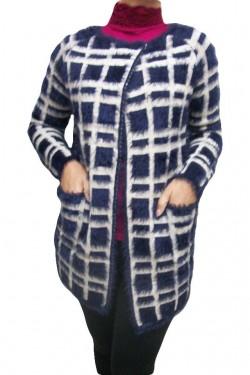 Cardigan rafinat, bicolor bleumarin-crem,alb-negru, negru-crem