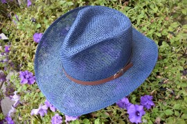 Palarie fashion, model trilby, bleumarin sau neagra, de vara