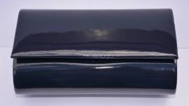 Poseta eleganta, model simplu gen plic, culoare bleumarin