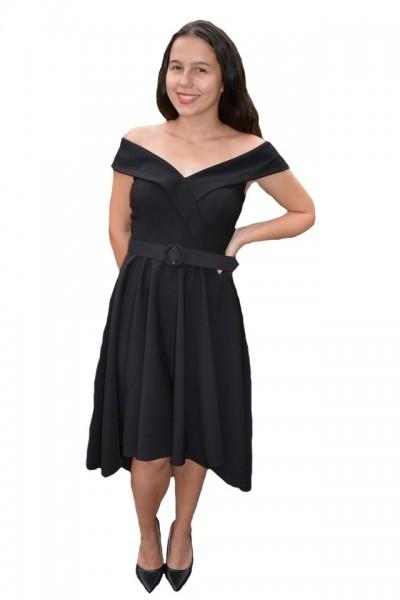 Poze Rochie eleganta Fiene cu decolteu in V,nuanta de negru