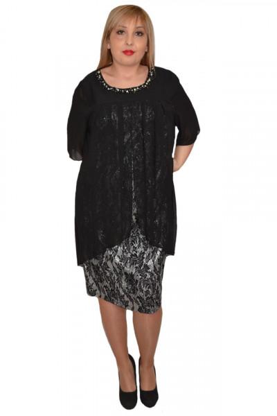Poze Rochie eleganta Kayla cu aplicatii de margele,nuanta de negru