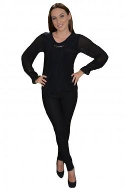 Poze Bluza moderna, tinereasca, nuanta de negru, cu maneca lunga