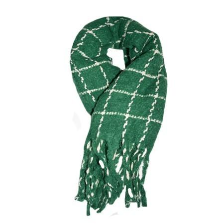 Poze Fular dama Dalma ,model cu patratele,verde