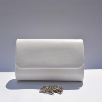 Poseta plic de ocazie, nuanta de bej, alb, roz somon,ivory cu design deosebit