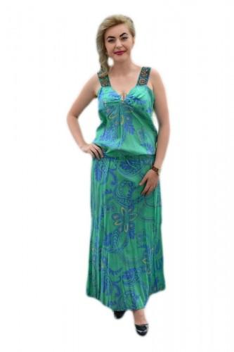 Poze Rochie cu bretele late, de culoare verde-bleumarin