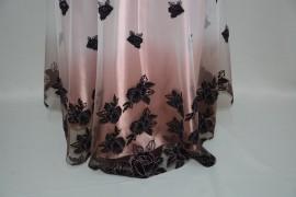 Rochie cu design de fluturi, nuanta de plamaniu, esarfa